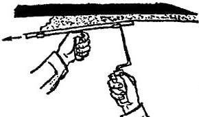 Намазывание раствора с сокола
