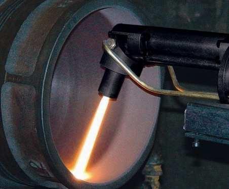 Напыление внутренних поверхностей отверстий диаметром от 250 мм