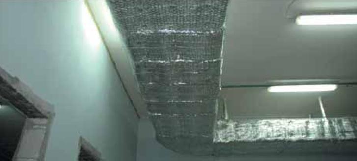 Общий вид изолированного воздуховода