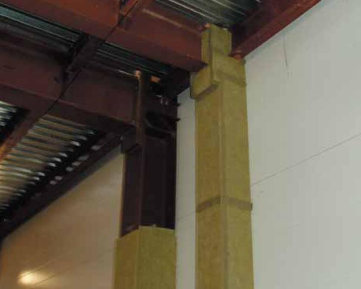 Огнезащита стальной колонны