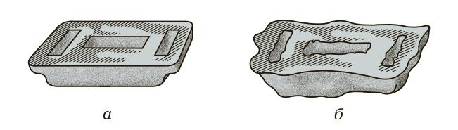 Оловянная чушка и оловянная чушка, разрушенная оловянной чумой
