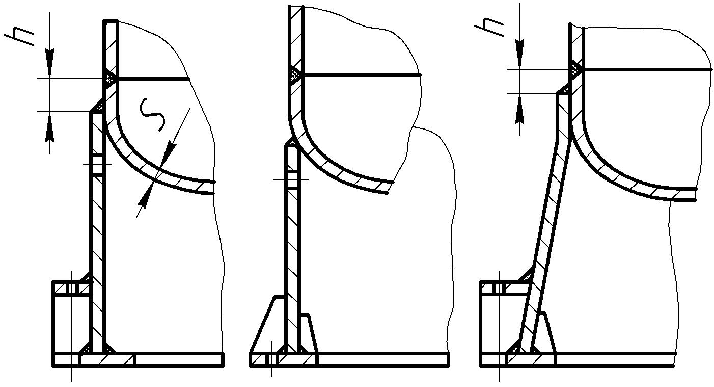 Опорная часть колонн