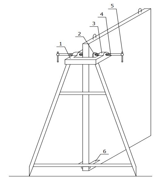 Подставка для временного крепления панелей внутренних стен