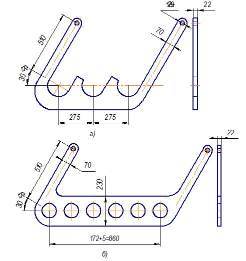 Подвески для труб радиантного змеевика