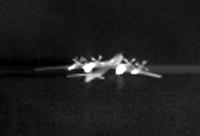 Приборы для обнаружения теплового контраста нагретого самолёта