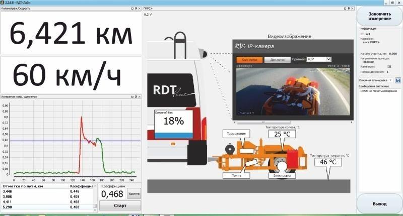 Print Screen программного обеспечения при выполнении измерения