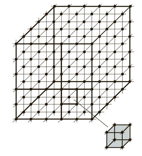расположение элементарных геометрических ячеек в атомных решетках металлов и сплавов