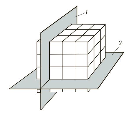 Расположение кристаллографических плоскостей