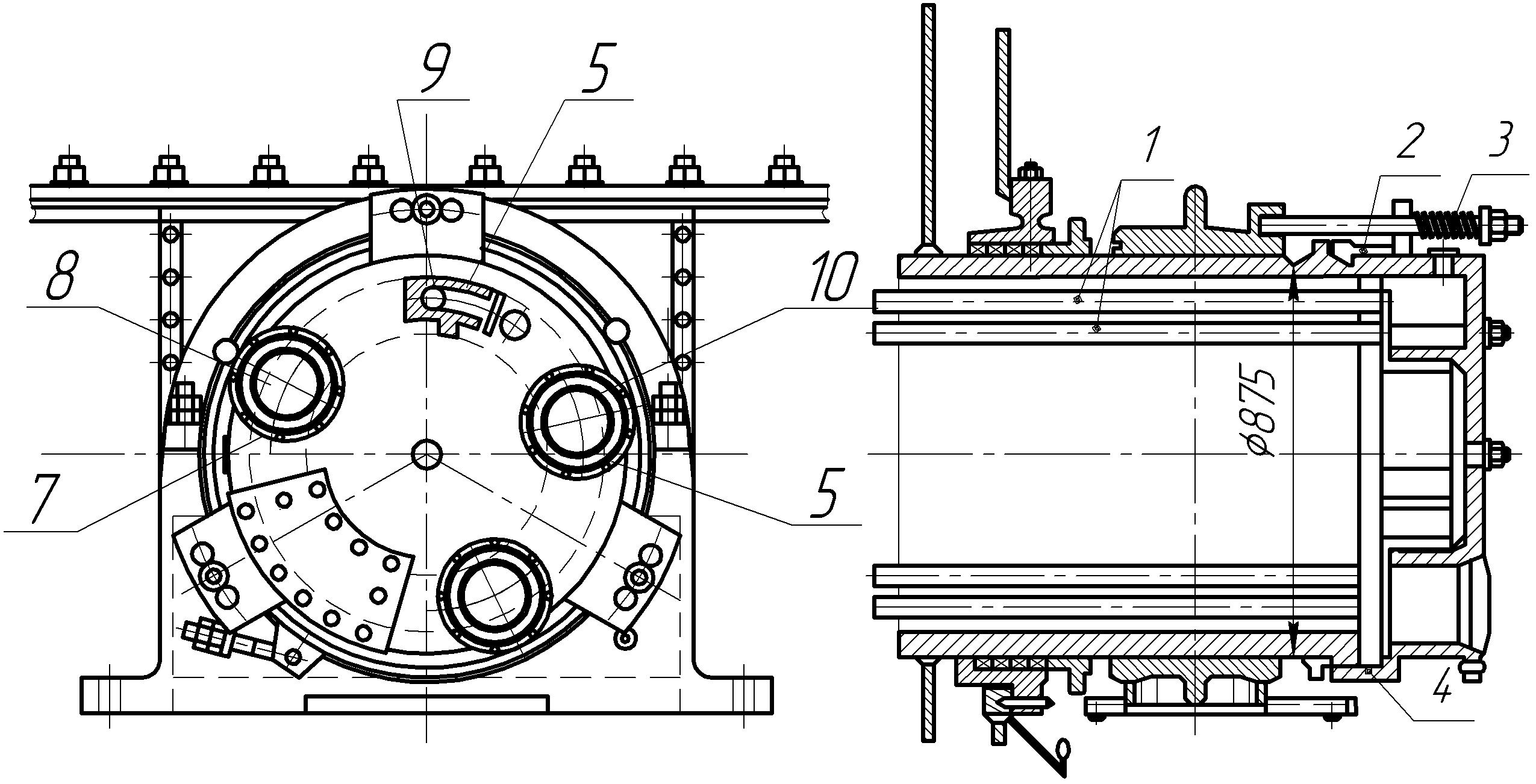 Распределительная головка вакуум-фильтра