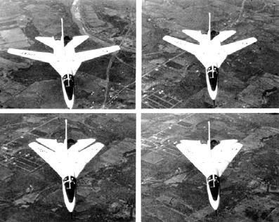 Различные положения крыла изменяемой стреловидности