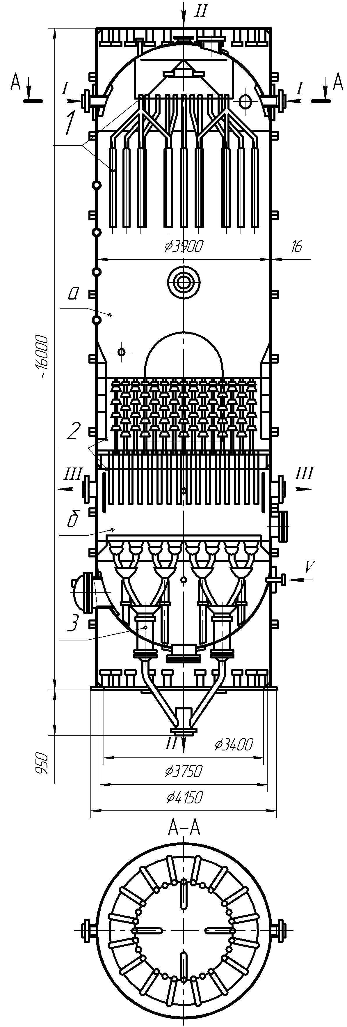 Реактор каталитического крекинга с шариковым движущимся катализатором