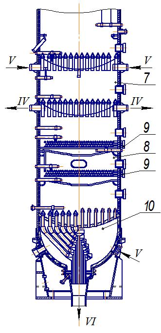 Реактор-регенератор совмещенного типа
