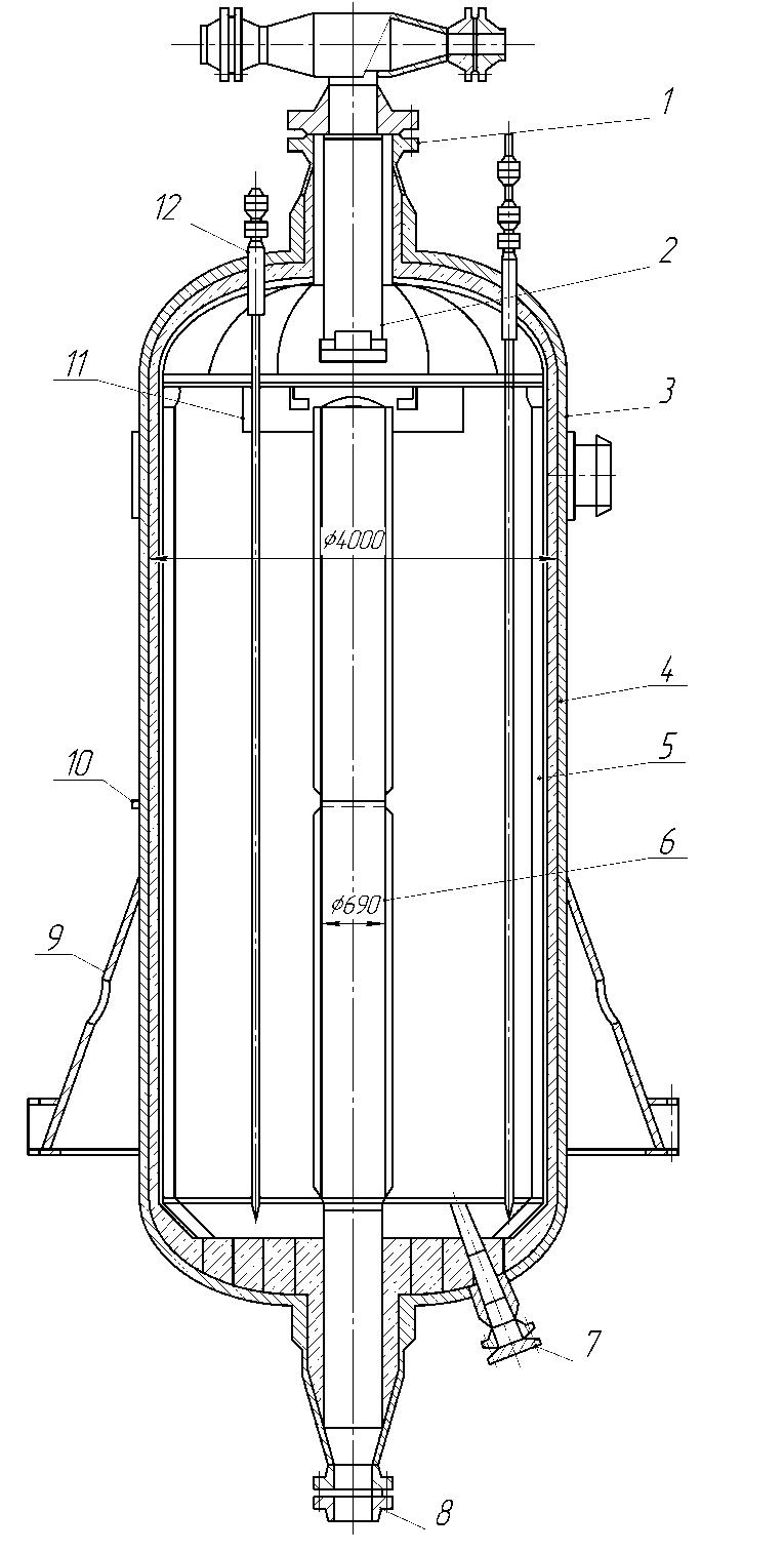Реактор риформинга радиального типа