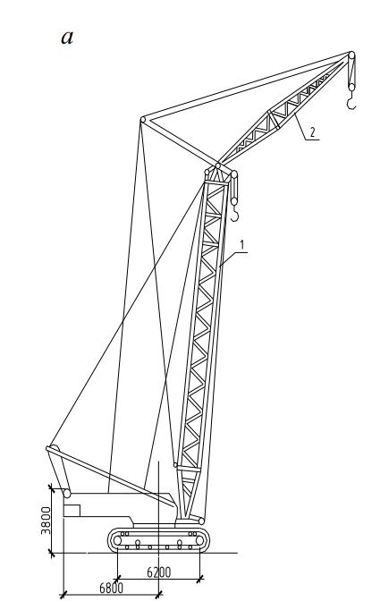 Самоходные строительные краны – гусеничный кран МКГС-100 с гуськом