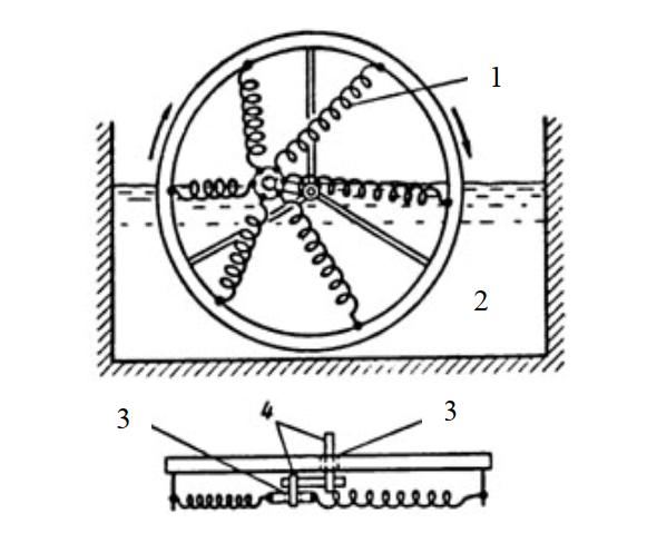 Схема двигателя с кривошипно-шатунным механизмом на основе сплавов с эффектом памяти формы