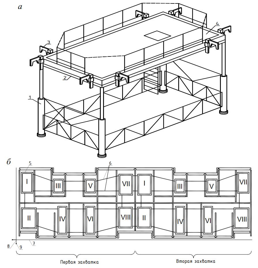Схема монтажа панельного здания