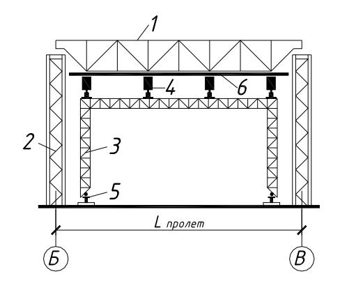 Схема монтажа структурного покрытия с помощью высокого установщика