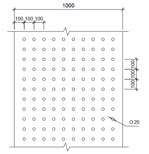 Схема перфорации рубероида