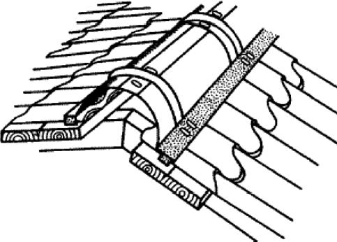 Схема расположения конькового элемента
