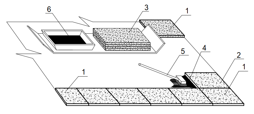 схема укладки плитного утеплителя на мастике