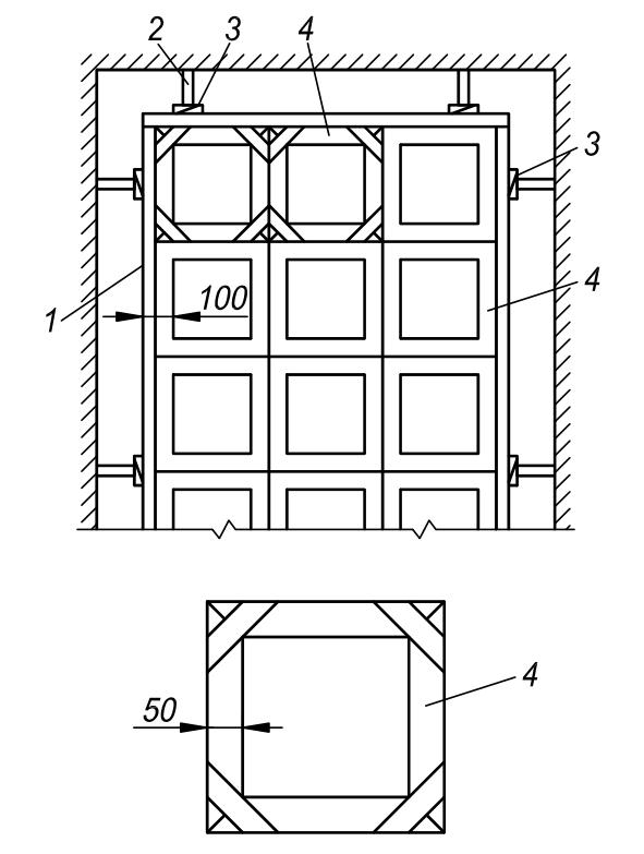 Схема установки маячных и разделительных реек при устройстве ксилолитовых (мозаичных) полов по рисунку