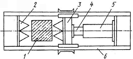 Схема устройства для срезки головок свай