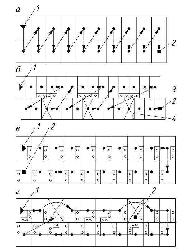 Схемы последовательности монтажа зданий из объемных блоков