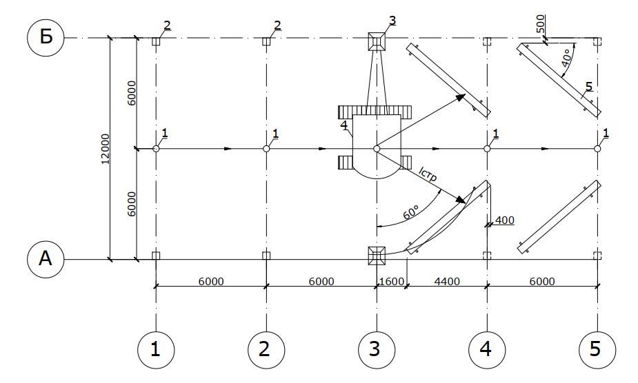 Технологическая схема монтажа колонн способом «на весу»