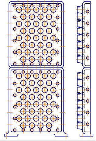 Трубная решетка (крайние) конвекционной камеры