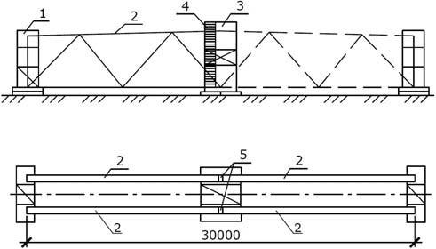 Укрупнительная сборка конструкций – металлических ферм из отправочных марок на стенде