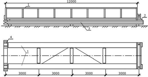 Укрупнительная сборка конструкций – подкрановых балок в объемные блоки на стенде