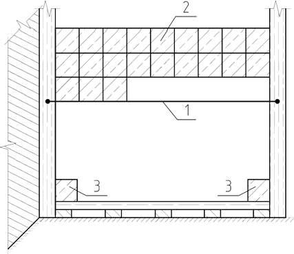 Установка маячных марок и укладка плитки при облицовке сверху вниз