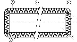 Воздуховод с огнезащитным покрытием WIRED MAT
