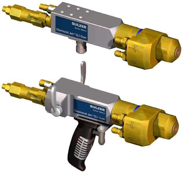Water-Cooled Diamond Jet® Spray Guns
