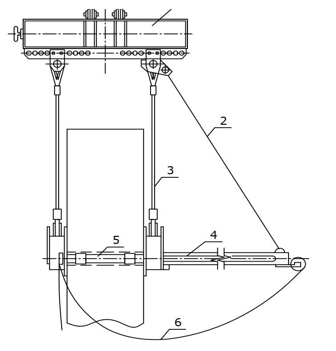 Захват для монтажа железобетонных колонн