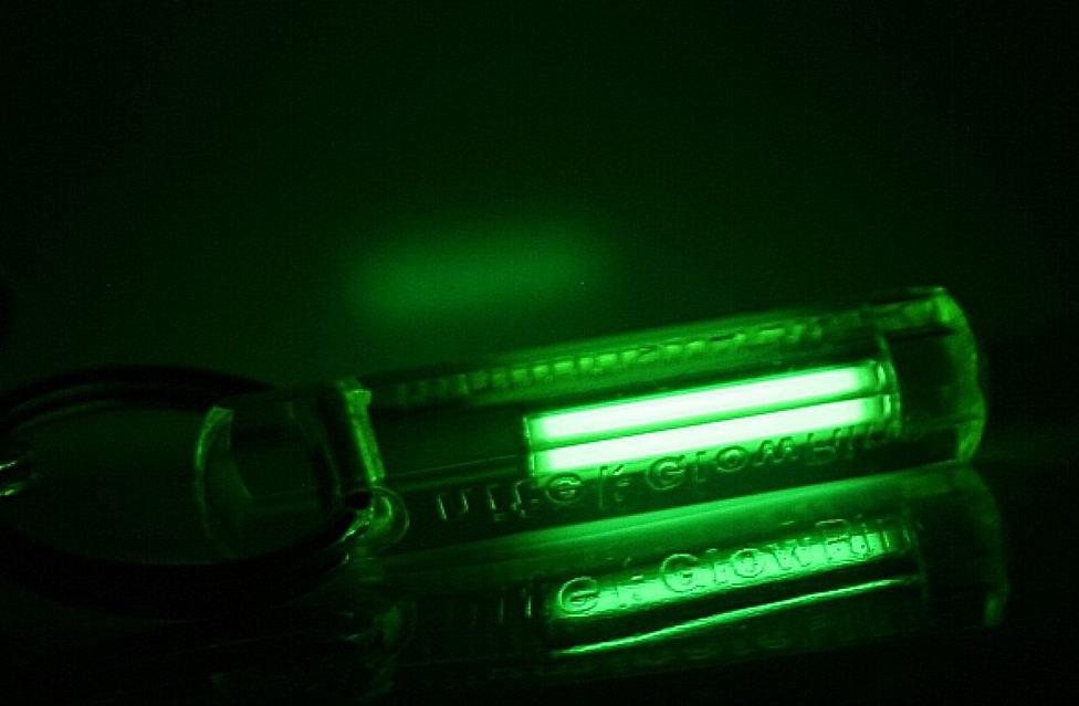Брелокс радиолюминесцентной(тритиевой) подсветкой