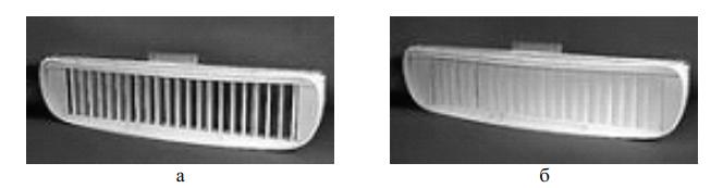 Дефлектор в различных рабочих положениях