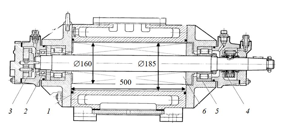 Ротационный пластинчатый холодильный компрессор