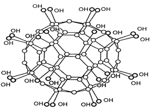 Схема химического строения водорастворимого фуллерена