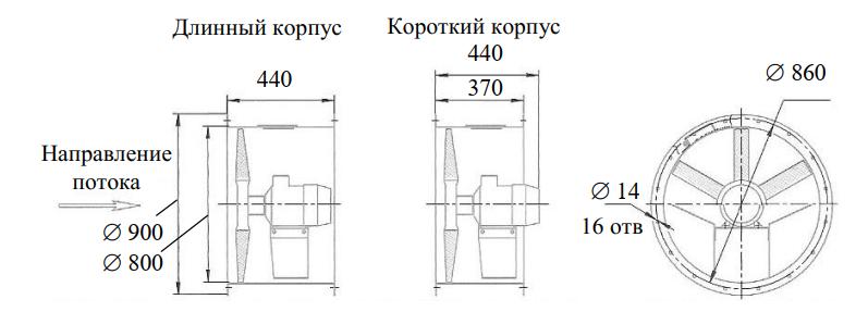 Схема осевого вентилятора ОСА