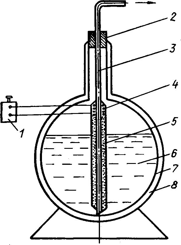 Схема устройства для переливания низкотемпературных жидкостей