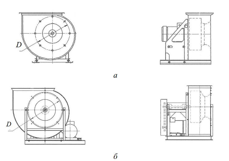 Схемы вентиляторов «ВЕЗА»