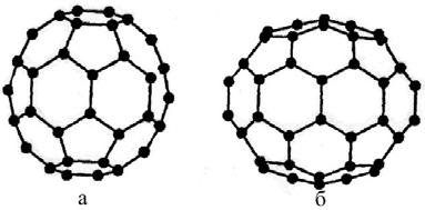 Структура фуллереновых молекул С60 и С70