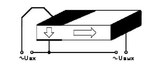 Конструкция пьезотрансформатора