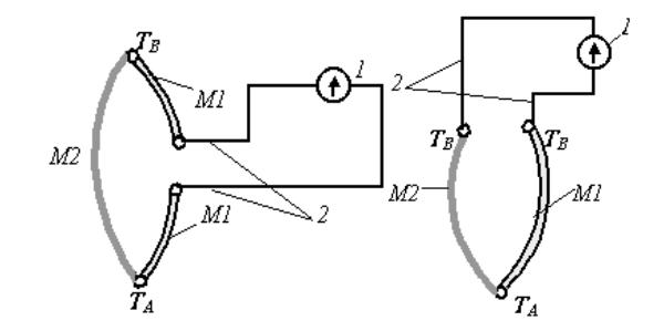 Схемы включения термопары в измерительную цепь
