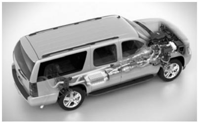 Автомобиль с интегрированным в выхлопную систему термоэлектрогенератором