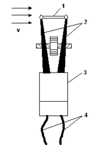 Схема термоанемометра