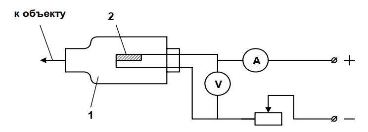 Схема вакуумметра с терморезистором