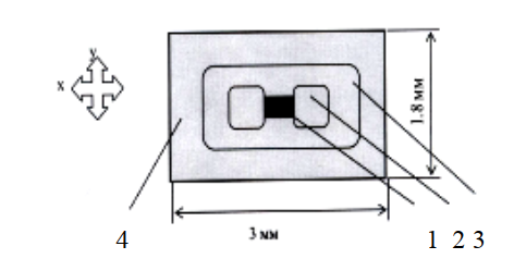 Конструкция тензодатчика на основе тонкопленочного полупроводникового тензорезистора
