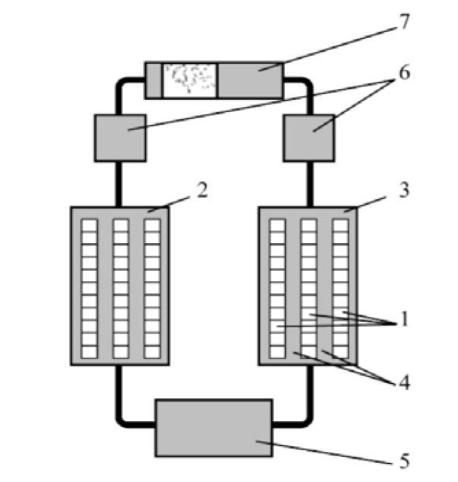 Схема электрокалорической холодильной машины